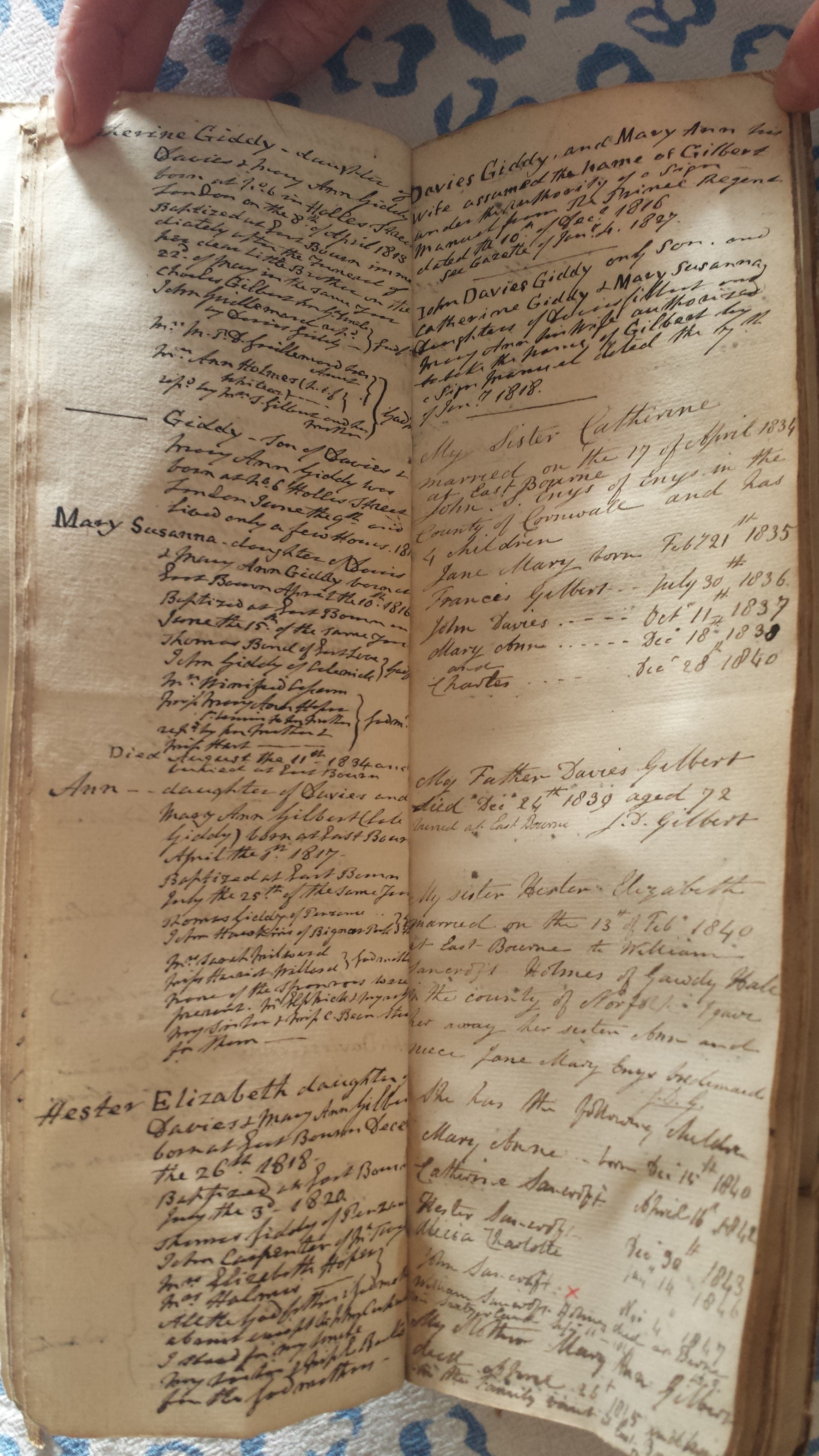 Leatherbound family book of records