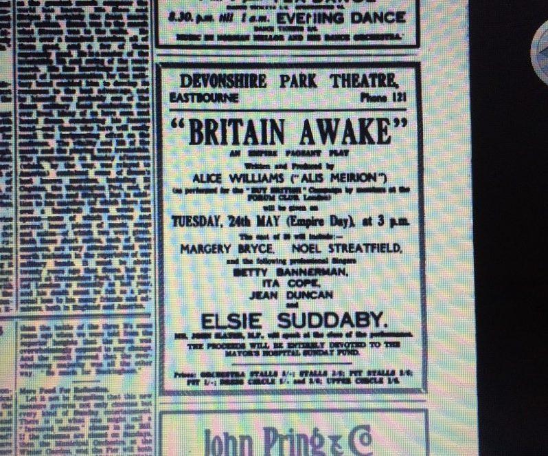 Noel Streatfeild appearing in Britain Awake 1921