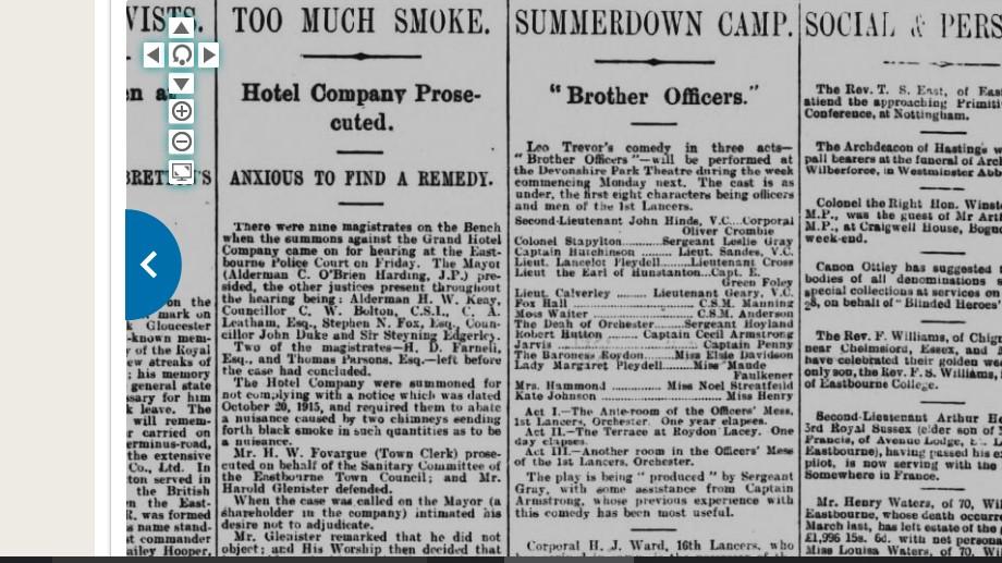 Noel Streatfeild appearing in Brother Officers 1916